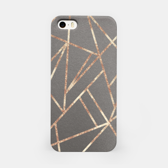 Miniaturka Classic Gray Rose Gold Geo #1 #geometric #decor #art iPhone-Hülle, Live Heroes