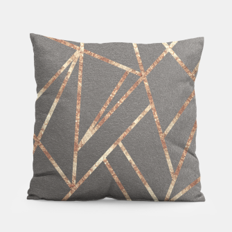 Thumbnail image of Classic Gray Rose Gold Geo #1 #geometric #decor #art Kissen, Live Heroes