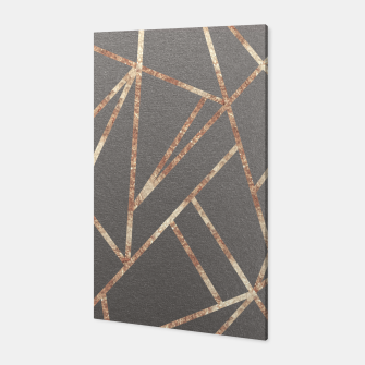 Thumbnail image of Classic Gray Rose Gold Geo #1 #geometric #decor #art Canvas, Live Heroes
