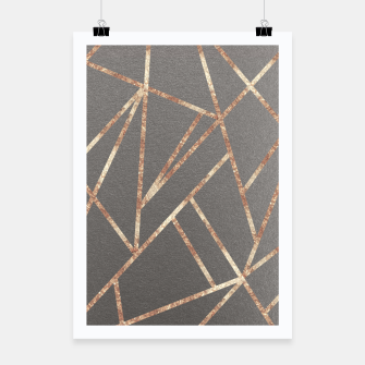 Thumbnail image of Classic Gray Rose Gold Geo #1 #geometric #decor #art Plakat, Live Heroes