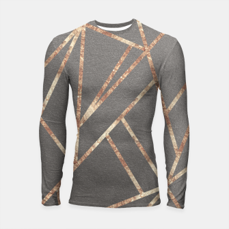 Thumbnail image of Classic Gray Rose Gold Geo #1 #geometric #decor #art Longsleeve rashguard, Live Heroes