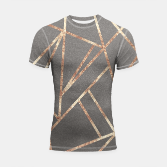 Miniaturka Classic Gray Rose Gold Geo #1 #geometric #decor #art Shortsleeve rashguard, Live Heroes