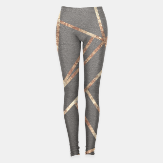 Miniaturka Classic Gray Rose Gold Geo #1 #geometric #decor #art Leggings, Live Heroes