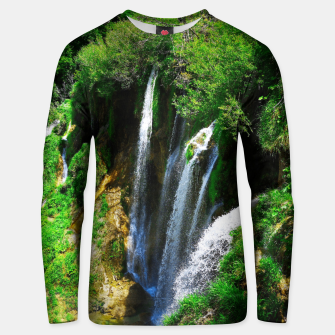 lower lake waterfall plitvice lakes national park croatia std Unisex sweater thumbnail image