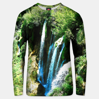 lower lake waterfall plitvice lakes national park croatia agfa Unisex sweater thumbnail image