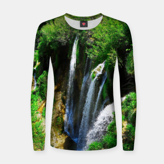 lower lake waterfall plitvice lakes national park croatia std Women sweater thumbnail image