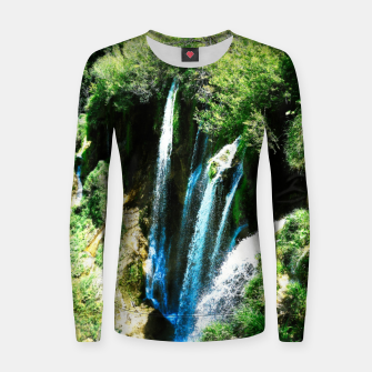 lower lake waterfall plitvice lakes national park croatia agfa Women sweater thumbnail image