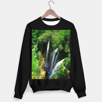 lower lake waterfall plitvice lakes national park croatia std Sweater regular thumbnail image