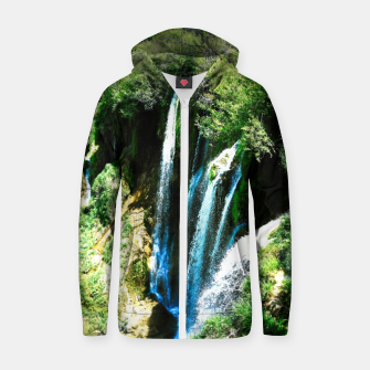 lower lake waterfall plitvice lakes national park croatia agfa Zip up hoodie thumbnail image
