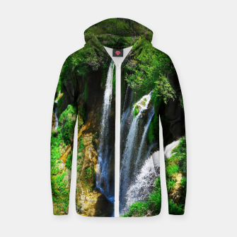 lower lake waterfall plitvice lakes national park croatia std Zip up hoodie thumbnail image