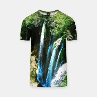 lower lake waterfall plitvice lakes national park croatia agfa T-shirt thumbnail image