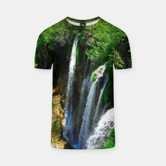 lower lake waterfall plitvice lakes national park croatia std T-shirt thumbnail image