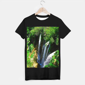 lower lake waterfall plitvice lakes national park croatia std T-shirt regular thumbnail image