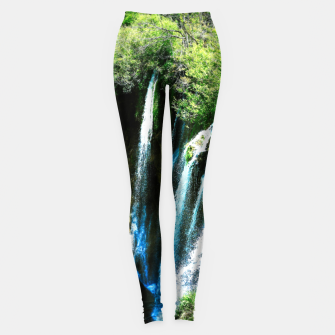 lower lake waterfall plitvice lakes national park croatia agfa Leggings thumbnail image