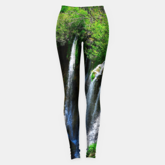 Thumbnail image of lower lake waterfall plitvice lakes national park croatia std Leggings, Live Heroes