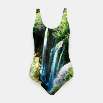 Thumbnail image of lower lake waterfall plitvice lakes national park croatia agfa Swimsuit, Live Heroes
