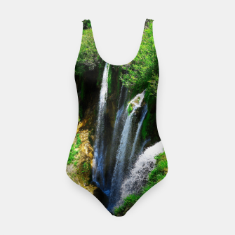 Thumbnail image of lower lake waterfall plitvice lakes national park croatia std Swimsuit, Live Heroes