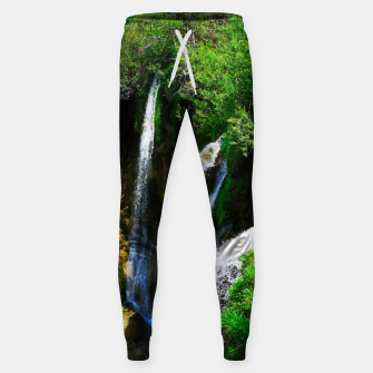 Thumbnail image of lower lake waterfall plitvice lakes national park croatia std Sweatpants, Live Heroes