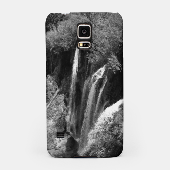 Thumbnail image of lower lake waterfall plitvice lakes national park croatia bw Samsung Case, Live Heroes