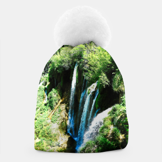 Thumbnail image of lower lake waterfall plitvice lakes national park croatia agfa Beanie, Live Heroes