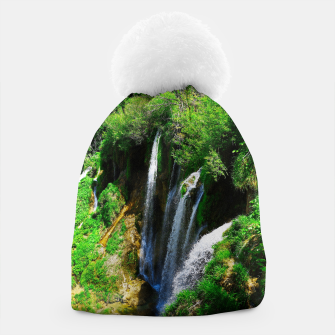 Thumbnail image of lower lake waterfall plitvice lakes national park croatia std Beanie, Live Heroes