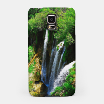 Thumbnail image of lower lake waterfall plitvice lakes national park croatia std Samsung Case, Live Heroes