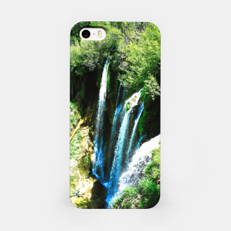 Thumbnail image of lower lake waterfall plitvice lakes national park croatia agfa iPhone Case, Live Heroes