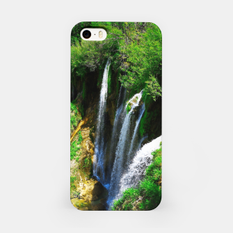 Thumbnail image of lower lake waterfall plitvice lakes national park croatia std iPhone Case, Live Heroes