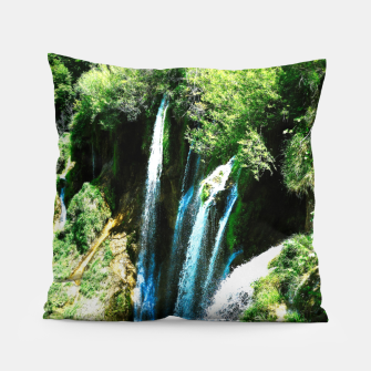 Thumbnail image of lower lake waterfall plitvice lakes national park croatia agfa Pillow, Live Heroes