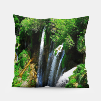 Thumbnail image of lower lake waterfall plitvice lakes national park croatia std Pillow, Live Heroes