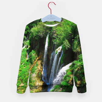 Thumbnail image of lower lake waterfall plitvice lakes national park croatia std Kid's sweater, Live Heroes