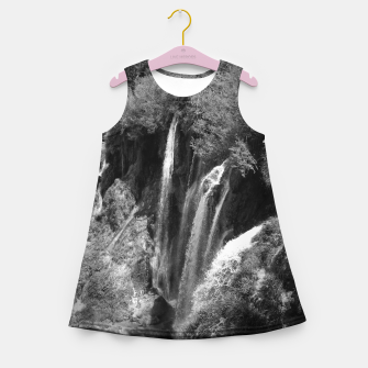 Thumbnail image of lower lake waterfall plitvice lakes national park croatia bw Girl's summer dress, Live Heroes