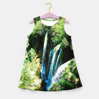 Thumbnail image of lower lake waterfall plitvice lakes national park croatia agfa Girl's summer dress, Live Heroes