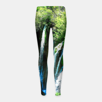 Thumbnail image of lower lake waterfall plitvice lakes national park croatia agfa Girl's leggings, Live Heroes