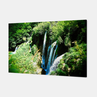 Thumbnail image of lower lake waterfall plitvice lakes national park croatia agfa Canvas, Live Heroes
