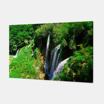 lower lake waterfall plitvice lakes national park croatia std Canvas thumbnail image