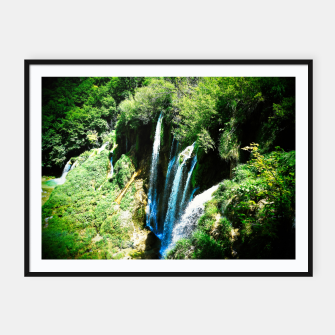 Thumbnail image of lower lake waterfall plitvice lakes national park croatia agfa Framed poster, Live Heroes