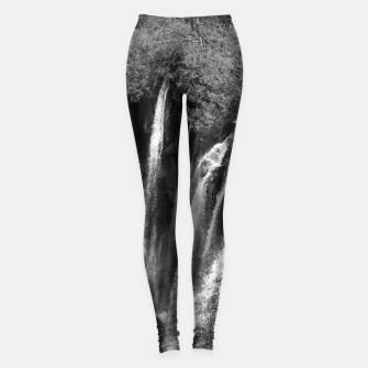 Thumbnail image of lower lake waterfall plitvice lakes national park croatia bw Leggings, Live Heroes