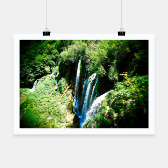Thumbnail image of lower lake waterfall plitvice lakes national park croatia agfa Poster, Live Heroes