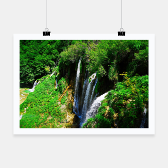 Thumbnail image of lower lake waterfall plitvice lakes national park croatia std Poster, Live Heroes