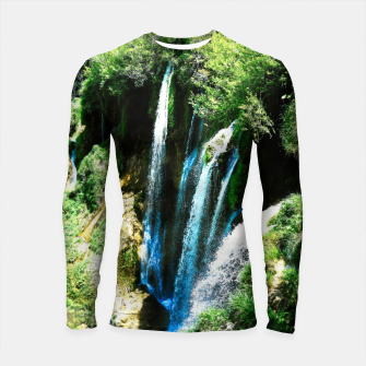Thumbnail image of lower lake waterfall plitvice lakes national park croatia agfa Longsleeve rashguard , Live Heroes