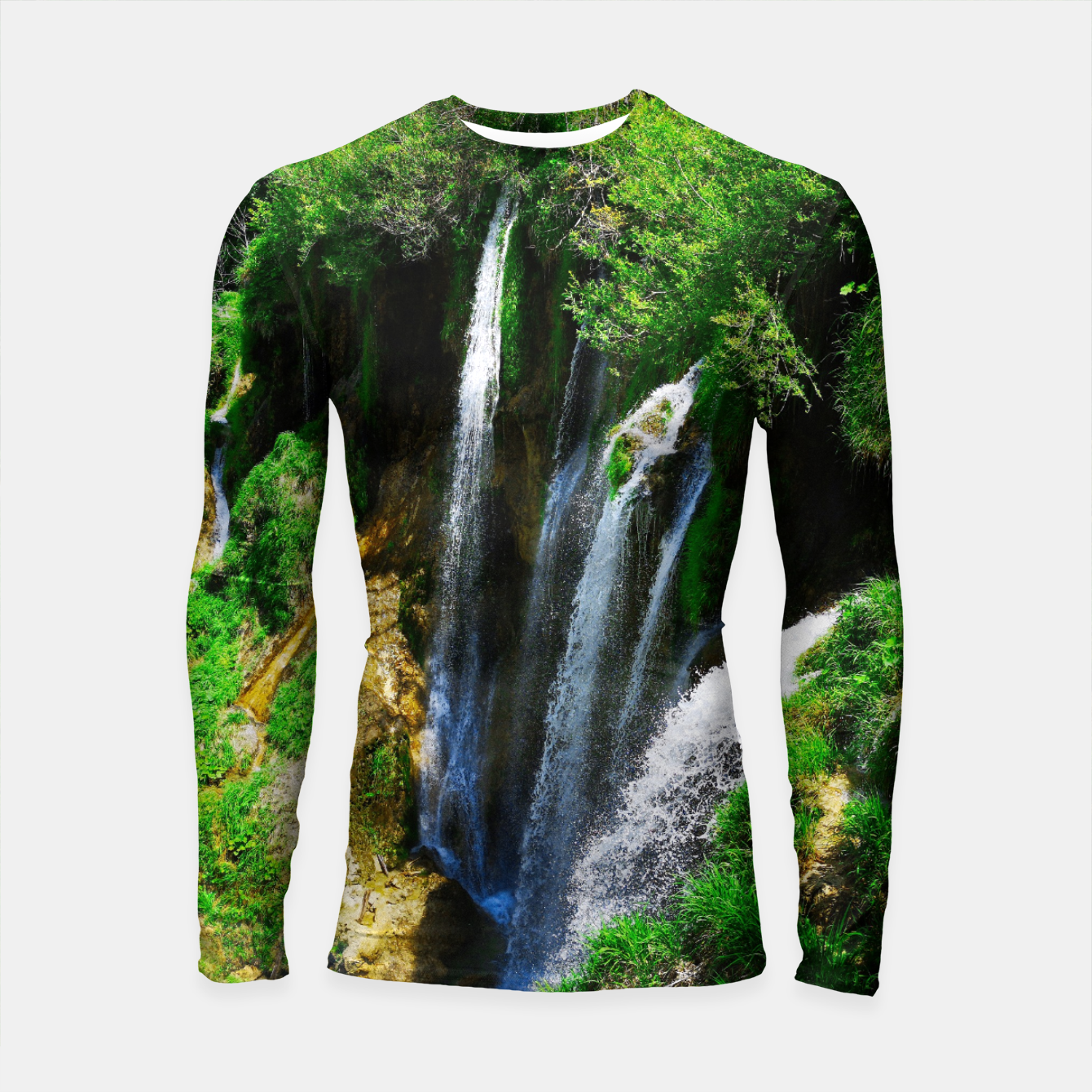 Image of lower lake waterfall plitvice lakes national park croatia std Longsleeve rashguard  - Live Heroes