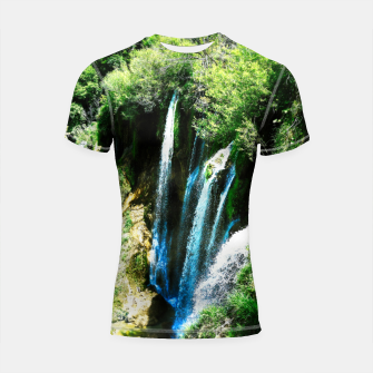 Thumbnail image of lower lake waterfall plitvice lakes national park croatia agfa Shortsleeve rashguard, Live Heroes