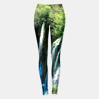 Thumbnail image of lower lake waterfall plitvice lakes national park croatia agfa Leggings, Live Heroes