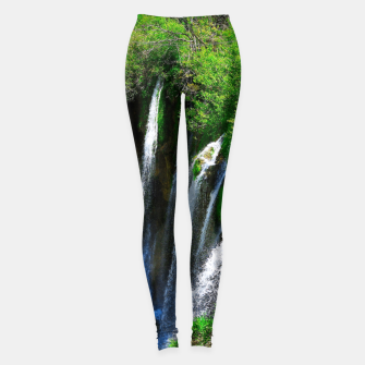 lower lake waterfall plitvice lakes national park croatia std Leggings thumbnail image
