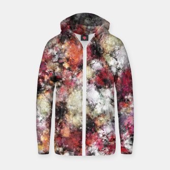 Thumbnail image of Thermal fractures Zip up hoodie, Live Heroes