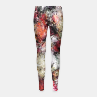 Miniaturka Thermal fractures Girl's leggings, Live Heroes