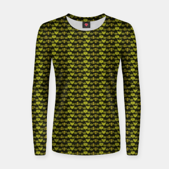 Thumbnail image of Yellow Dragon Doodles Women sweater, Live Heroes