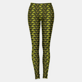 Thumbnail image of Yellow Dragon Doodles Leggings, Live Heroes