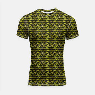 Thumbnail image of Yellow Dragon Doodles Shortsleeve rashguard, Live Heroes